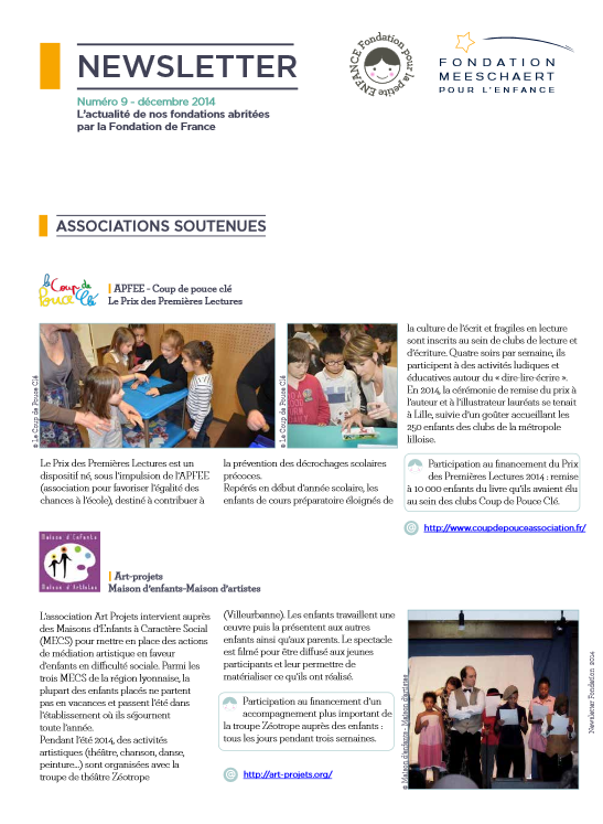 newsletter 2014 fondation